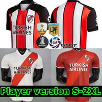 2021 플레이어 Versio River Plate 축구 유니폼 Martínez Borré Suárez Fernandez Humanrace Pratto 21 22 축구 남성 셔츠 키트 키트
