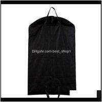 Çantalar Kat Hizmetleri Organizasyon Ev Bahçe Bırak Teslim 2021 1 adet Siyah Toz Geçirmez Askı Ceket Konfeksiyon Suit Kapak Saklama Torbaları, Giyim Stora