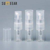 100pieces / lot 1 ml Mini Glassprayflasche nachfüllbare leere Flaschen Kosmetische Behälter Tragbare Parfüm Zerstäuberprobe