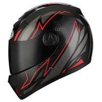 Casques de moto Casque Plein Professionnel Casque Full Visage Dual Lens Motocross Casque Double Viseurs hors route Moto Casco pour adultes