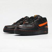 VLONES 107 коньков обувь для мужчин LiveVlone Dievlone Skate Shoot Мужская мужская скейтборд Chaussures Женские кроссовки женщин спортивные кроссовки в черный апельсин AA5360-100