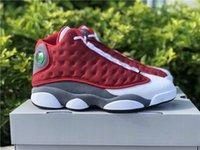 2021 Kırmızı Flint 13s Erkekler Basketbol Ayakkabı En Kaliteli Jumpman 13 Kırmızı-Beyaz Açık Koşu Eğitmenler Spor Sneakers Gemi ile Kutusu 414571-600