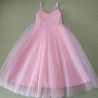 2021Real Flower Girl Dresses with Spaghetti Straps Gorgeous Princess Little Girls Kids Child First Communion Party Pageant Dress
