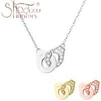Shadowhunters Real 925 Sterling zilveren handboeien ketting half met volledige zirkoon choker voor vrouwen sieraden luxe merk kettingen