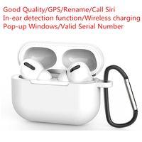 airpods pro 3 fones de ouvido toque controle sem fio TWS Bluetooth fones de ouvido esportes headset 300mAh caixa de carregamento para apple android