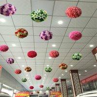 """40 cm Rayon Rose Flowers Kiss Ball Color múltiple Boda Decoración de Navidad Productos Decorativos Guirnaldas"