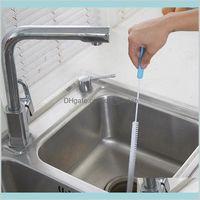 Escovas domésticas domésticas organização casa jardim 71cm flexible limpeza escova pia overflow dreno unblocker cozinha ferramentas de aço