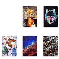 Nebula Butterfly 가죽 지갑 iPad Pro 11 10.5 10.2 미니 6 2021 1 2 3 ipad4 5 AIR4 9.7 '꽃 추상 표범 해골 개 고양이 동물 유성 홀더 플립 커버
