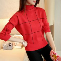 Women's Sweaters Sweater Female 2021 Autumn And Winter Fashion Half-neck Pullover Short Paragraph Warm Loose Bottoming Shirt