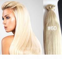 "18 ""20"" 22 ""Nano Ringe Indian Remy Human Hair Extensions 100g Pk 100Beads 1G S Farbe # 60 Nano Tipp Indische Remy Haar Nano Ringe Ha"