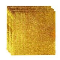 200 قطع الألومنيوم احباط ورقة الذهب التفاف هدية حزمة البرتقال قشر التعبئة والتغليف الشوكولاته (الذهبي) التفاف
