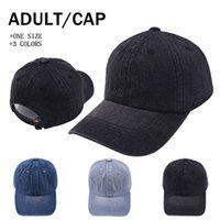 Cappelli di Ponytai di colore solido del denim Hollow Cappello di baseball Cappello di baseball Cappello dei camionisti del Banco del Bambino di Cappello da baseball del cappello da sole del Sea Lla851