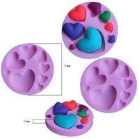 Love Heart Shape Silicone Cake Mold Baking Mould For Soap Cookies Fondant Cake Tools Decorating dff8237