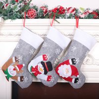 Led Lighted Stocking Christmas Tree Pendant Kids Children Gifts Bag Xmas Hanging Decoration 5pcs HH21-664