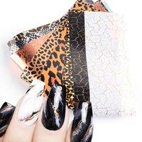 스티커 데칼 10pcs 네일 호일 전송 레오파드 인쇄 뱀 스티커 손톱에 섹시한 동물 아트 장식 매니큐어 봄 세트 GL2023