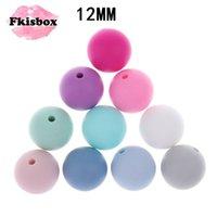 FKISBOX 100 stück Silikon Baby Breather Perle Runde 12mm Kauen Perles Lose Perlen Silikon Beißringe A Free 210909