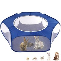 الكلب البيوت الكلاب الملحقات جودة عالية المحمولة pet playpen في الهواء الطلق لعبة البسيطة داخلي السياج قابل للطي للحيوانات الصغيرة قفص خيمة جرو