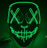 10 colors Halloween Mask LED Light Up Funny Masks The Purge Election Year Great Festival Cosplay Costume Supplies Party Mask HWE10177
