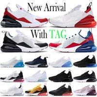 2021 Cojín de alta calidad 270 Mens Running Shoes Shoes University Red Triple blanco Metallic Gold Black 270S Deportes EE.UU. Photo Blue 27C Mujer entrenadores de zapatillas de deporte