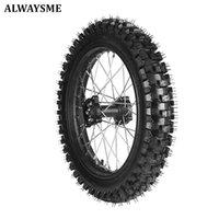 90 / 100-16 3.25-16 Dirt Pit Bike Bakhjulsdäckfälg med 15mm lagermontering Motorcykelhjul Däck