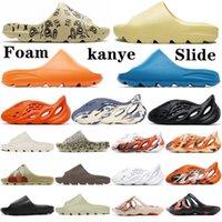 Kanye sandales glisse pantoufles os résine déserte sable mousse coureur ararat en caoutchouc west mode esquive saison marron plate hommes hommes diapositive