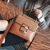 Frosted bag Women's Handbag Fashion Wide Shoulder Belt Handbags Small Square Bags portable New Korean Packs Single Messenger Pack