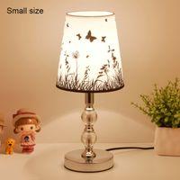 Table Lamp LED Bedside Lamps For Living Room Bedroom Desk Lighting Nordic Night Light E27 EU Plug crystal ball Small Size Dark butterfly
