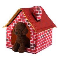 كلب سرير كلب طوي الكلب منزل صغير منزل الحيوانات الأليفة خيمة خيمة القط بيت الكلب داخلي المحمولة الهوائية وسادة حصيرة أريكة قابل للغسل جرو أفخم 1232 v2