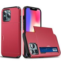 Compare with similar Items Business Armor Phone Cases Slide with Card Slots Holder Cover Hybrid Case For iPhone13 12 XR X 11 Pro XS Max