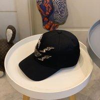 2021 Trendy Erkekler Beyzbol Kap Siyah Hip Hop Tasarımcılar Kapaklar Şapka Kristal Boncuklu Erkek Yaz Moda Tasarımcısı Cappelli Firmati