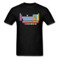 MATH T-Shirt Periodische Tabelle der Elemente Sommer Top Qualität Baumwolle Herren Bekleidungselement Surprise Tshirt Lustige Grafik Teeshirt