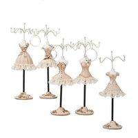 Bolsas de jóias, bolsas de ferro artesanato de resina colar de resina carrinho para brincos exibir europeu casa-decoração menina vestindo ornamento