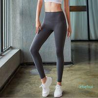 루 요가 바지 압축 바지 체육관 엉덩이 높은 허리 암 포스 빠른 운동 Euoka 솔리드 컬러 여성 요가 바지