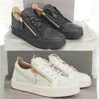 Designer homens casuais couro patente calfskin sapatos treinadores moda mulheres 3 tapete de baixo custo com fechos de ouro Frankie cores brancas bl siqxq