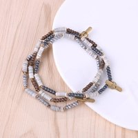 Fashion Neutral Jewelry Shell Pyrite Stone Beaded Bracelets Infinity Charm Simple Men Women Gift 2021