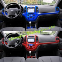 For old Hyundai SantaFe 2006-2012 Interior Central Control Panel Door Handle 3D 5D Carbon Fiber Stickers Decals Car styling Accessorie