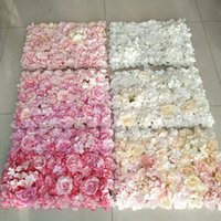 flower Home decoration props 1PC 40x60cm Artificial Wall mats Rose Fake Flowers Hydrangea wedding Panels