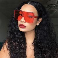 Rectangle Sunglasses Summer Woman Street Fashion Sunglasses Full Frame UV400 6 Color Optional High Quality