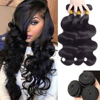 Human Hair Bulks Body Wave Extension Top Quality Brazilian Weave Bundles Natural Black 28 30 Icnh For Women