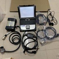 Teşhis Araçları MB Yıldız C3 SSD Yazılım Ile 2014.12 Çoklayıcı için Süper Hız CF-19 Laptop 4g Dokunmatik Ekran Tam Kablolar