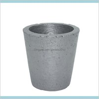 Furniture Accessories Home & Garden Wholesale- 4# Foundry Silicon Carbide Graphite Crucibles Cup Furnace Torch Melting Casting Refinin