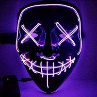 Хэллоуин LED лицо светящиеся мужская и женская партия реквизит творческий V-образной гримасной клоунской граффити маска
