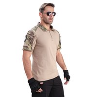 Military Tshirt Men's Summer Short Sleeve Camouflage Shirts Male Combat Airsoft US Force Battle Clothing Camo Tactical T Shirt 210518