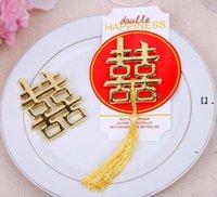 New200PCS 중국어 아시아 테마 더블 행복 병따개 결혼식 파티 호의 웨딩 파티 웨이웨이 ewa6243