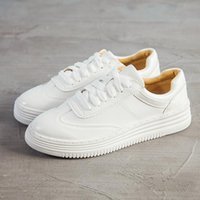 Boots 2021 Ladies Sneakers The Fashionable Com Fortable Breathable White Shoes Korean Style Platform Leather Casual