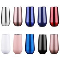 6oz Wine Tumbler 12 Colors Insulated Vaccum Cup Stainless Steel Glass Water Beer Mug item
