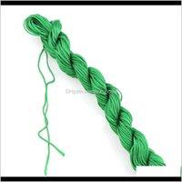Artes y artesanías 20 m trenzadas trenzadas de seda chino nudo satinado cuerda de poliéster de nylon para el collar de joyería de bricolaje haciendo hilo de abalorios Stri 3P0U4