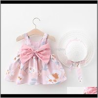 Girls Dresses Clothing Baby, Kids & Maternitysummer + Hat Baby Clothes Outfits Girl Princess Birthday Party Dress Bow Print Infant Toddler Bo