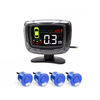 Car Rear View Cameras& Parking Sensors Radar LCD Square Screen Sensor Intelligent Sound Alarm Indicator Probe System Monitoring Detector