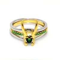 Loki Helmet Ring Creative Rhinestone Rings of Avenger Charms Super Hero Jewelry Gift for Unisex